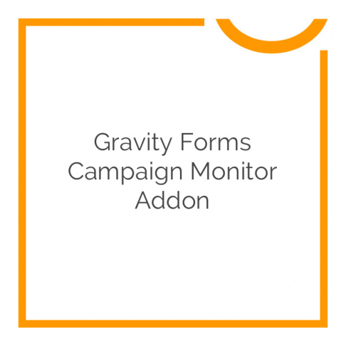 Gravity Forms Campaign Monitor Addon 3.5