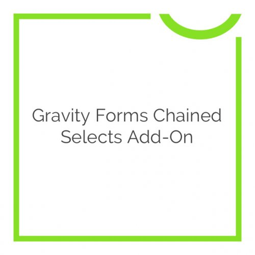 Gravity Forms Chained Selects Add-On 1.0.3