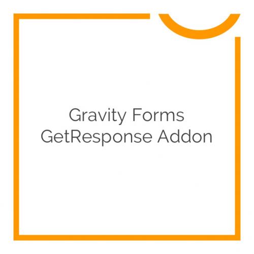 Gravity Forms GetResponse Addon 1.1.1