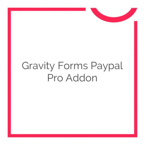 Gravity Forms Paypal Pro Addon 1.7.2
