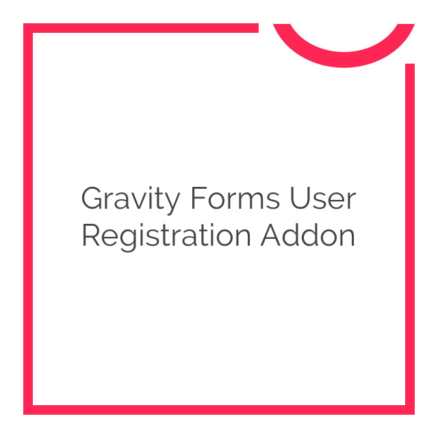 Gravity Forms User Registration Addon 3.8