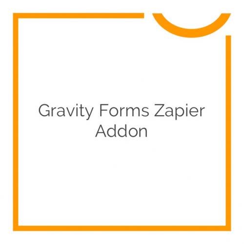 Gravity Forms Zapier Addon 2.1.4
