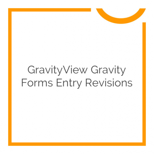 GravityView Gravity Forms Entry Revisions 1.0