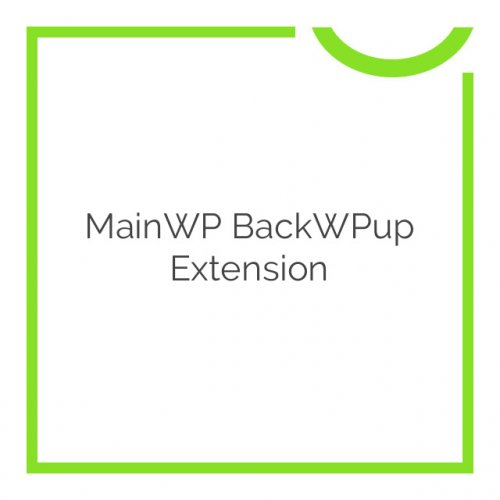 MainWP BackWPup Extension 1.2