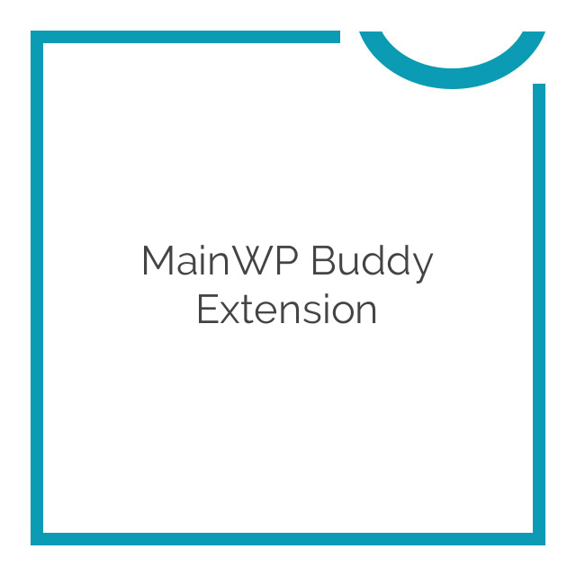 MainWP Buddy Extension 1.2