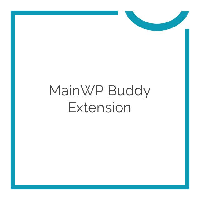 MainWP Buddy Extension 1.2