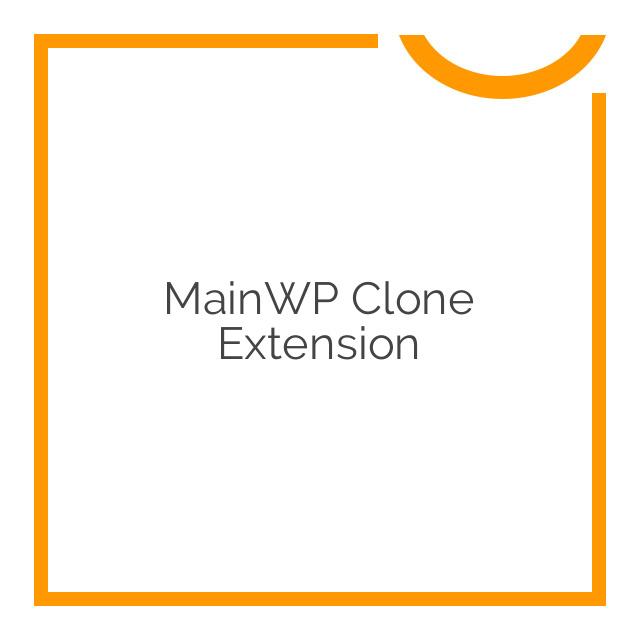 MainWP Clone Extension 1.0