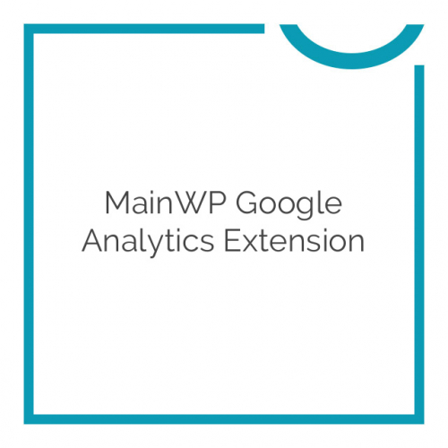 MainWP Google Analytics Extension 1.6