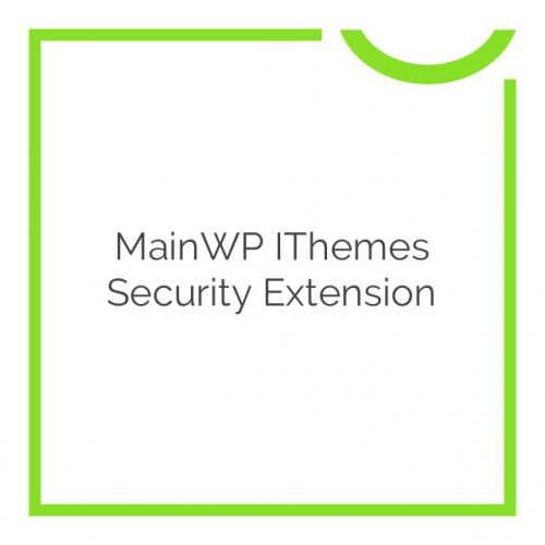 MainWP iThemes Security Extension 1.4