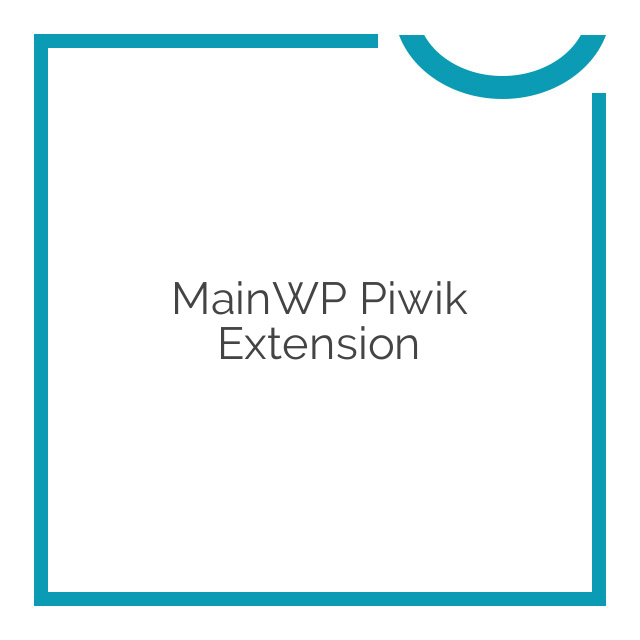 MainWP Piwik Extension 1.2
