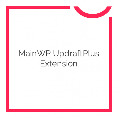 MainWP UpdraftPlus Extension 1.4