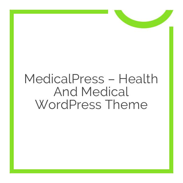 MedicalPress – Health and Medical WordPress Theme 1.6.1