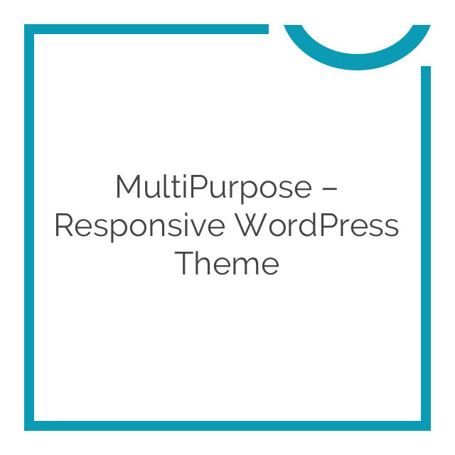 MultiPurpose – Responsive WordPress Theme 1.5.26