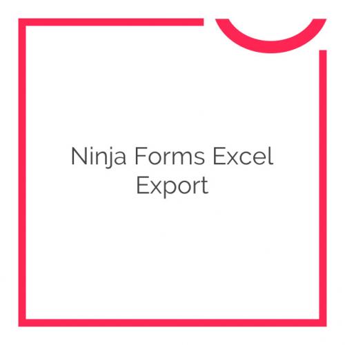Ninja Forms Excel Export 3.1