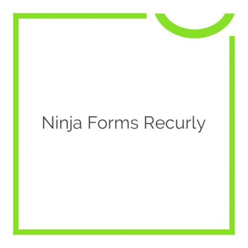 Ninja Forms Recurly 3.0.1