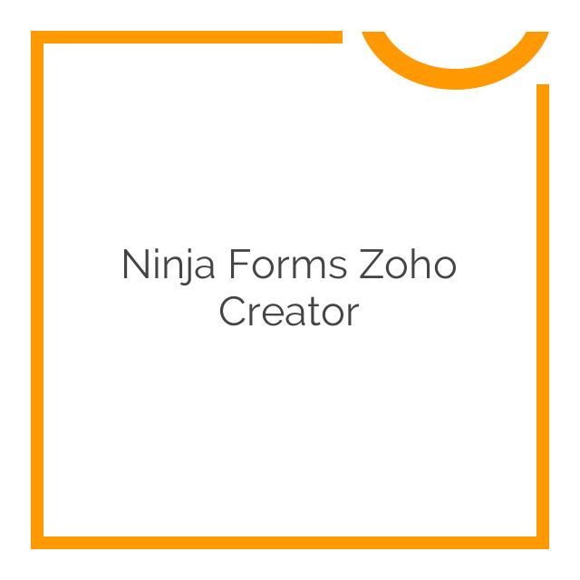Ninja Forms Zoho Creator 1.1