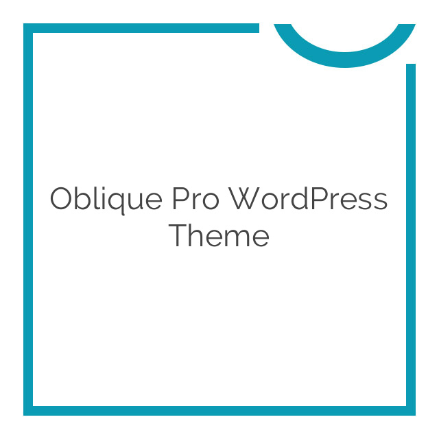 Oblique Pro WordPress Theme 2.0.6