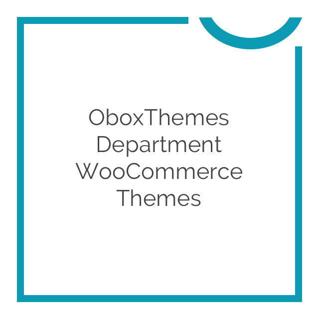 OboxThemes Department WooCommerce Themes 1.3.1