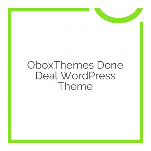 OboxThemes Done Deal WordPress Theme 2.0.4