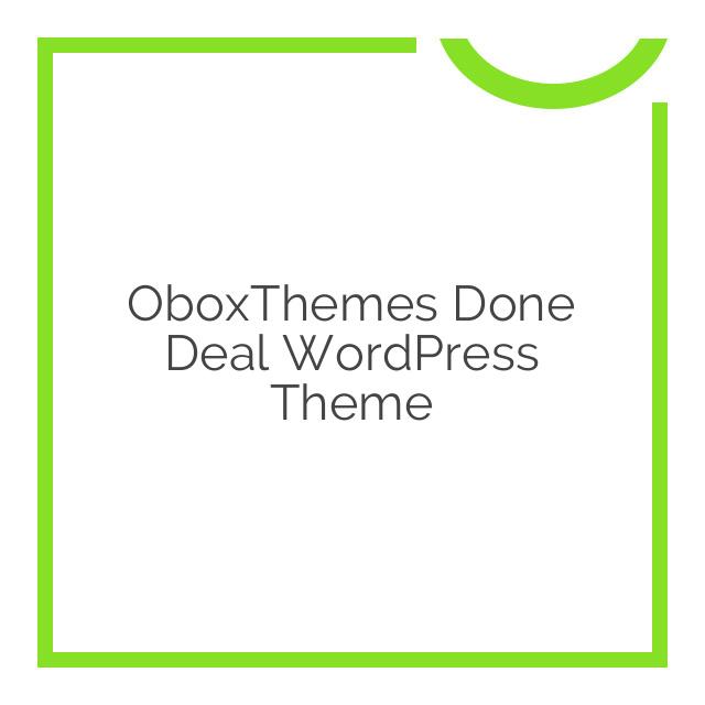 OboxThemes Done Deal WordPress Theme 2.0.4