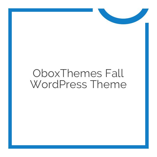 OboxThemes Fall WordPress Theme 1.1.6