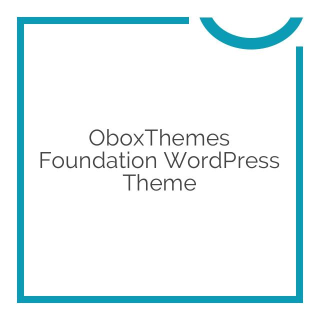 OboxThemes Foundation WordPress Theme 1.1.6