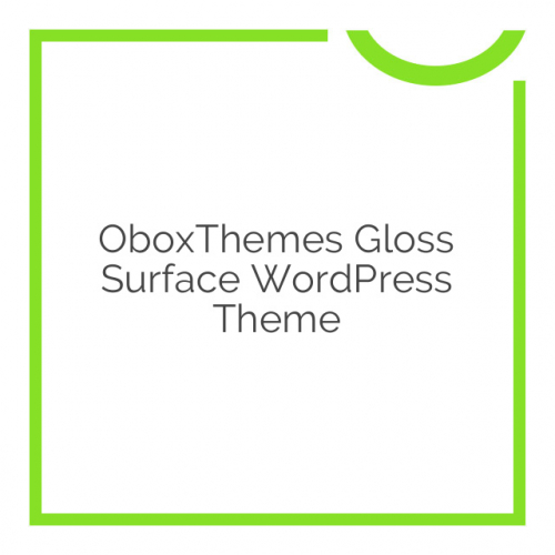 OboxThemes Gloss Surface WordPress Theme 2.0.2