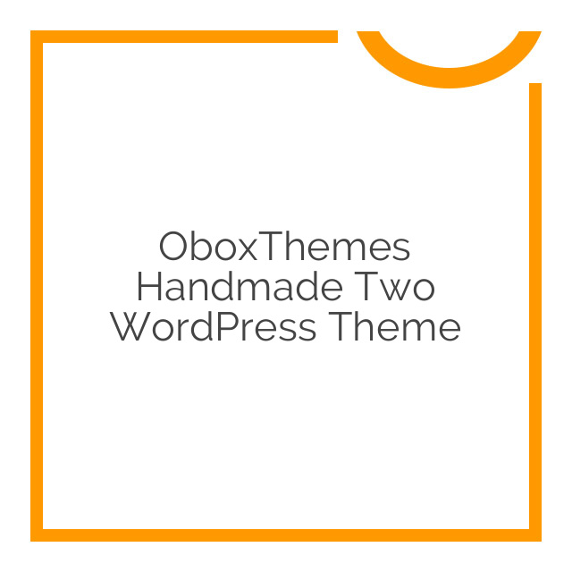 OboxThemes Handmade Two WordPress Theme 2.2.2