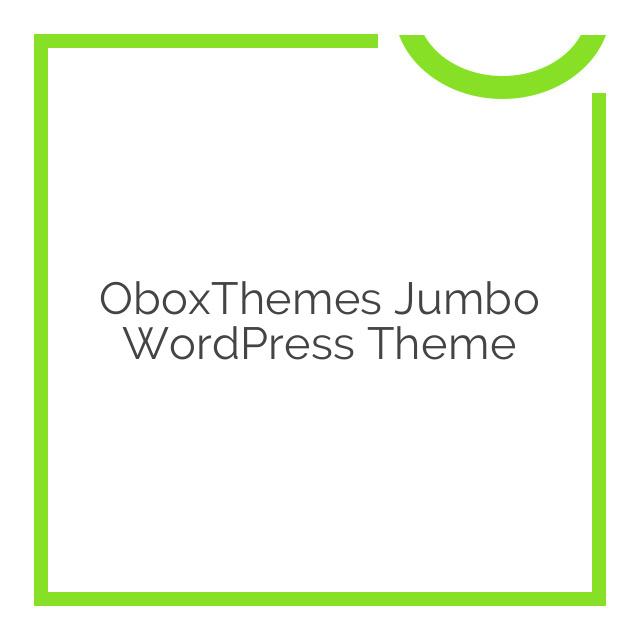 OboxThemes Jumbo WordPress Theme 1.2.1