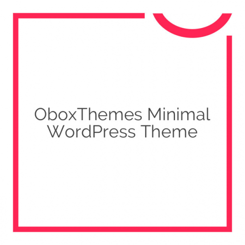 OboxThemes Minimal WordPress Theme 1.1.3
