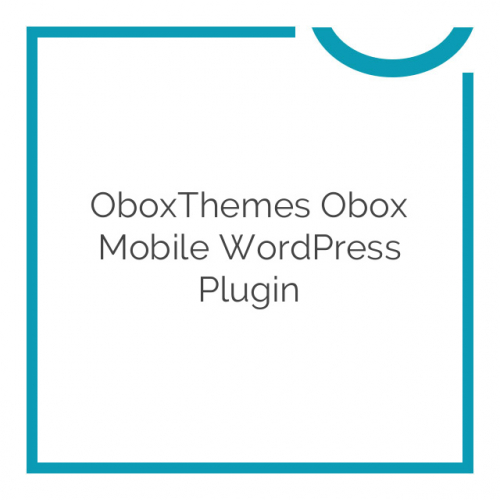 OboxThemes Obox Mobile WordPress Plugin 2.0.3