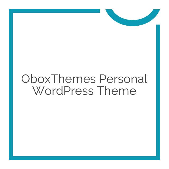 OboxThemes Personal WordPress Theme 1.2.6