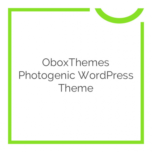 OboxThemes Photogenic WordPress Theme 1.1.4