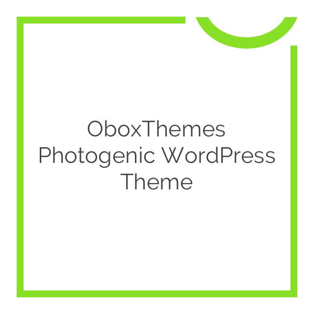 OboxThemes Photogenic WordPress Theme 1.1.4