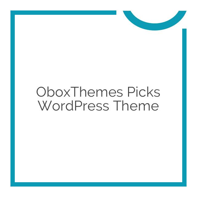 OboxThemes Picks WordPress Theme 1.1.8