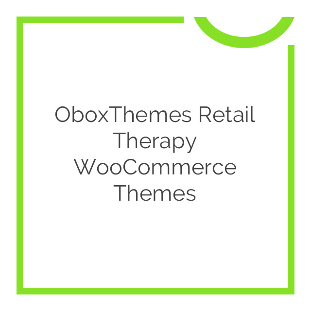 OboxThemes Retail Therapy WooCommerce Themes 1.3.6
