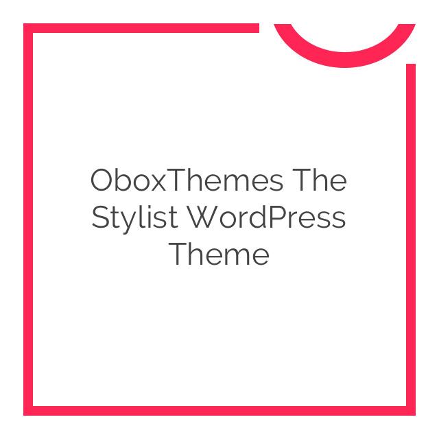 OboxThemes The Stylist WordPress Theme 1.1.7