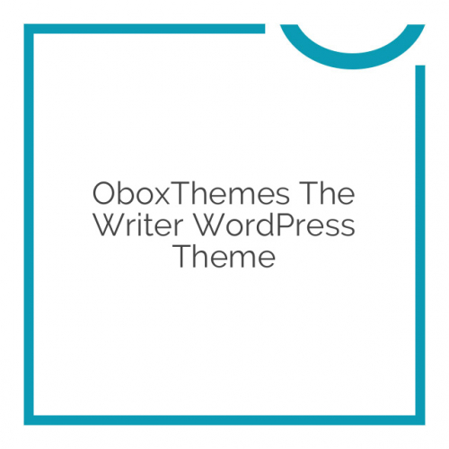 OboxThemes The Writer WordPress Theme 1.2.4