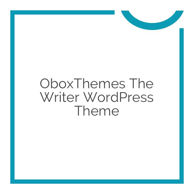 OboxThemes The Writer WordPress Theme 1.2.4