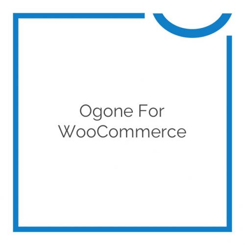 Ogone for WooCommerce 1.9.0