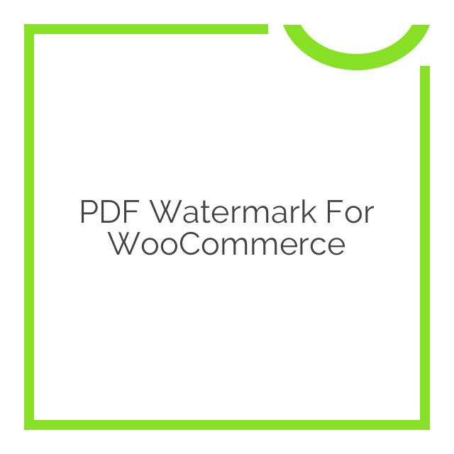 PDF Watermark for WooCommerce 1.1.3