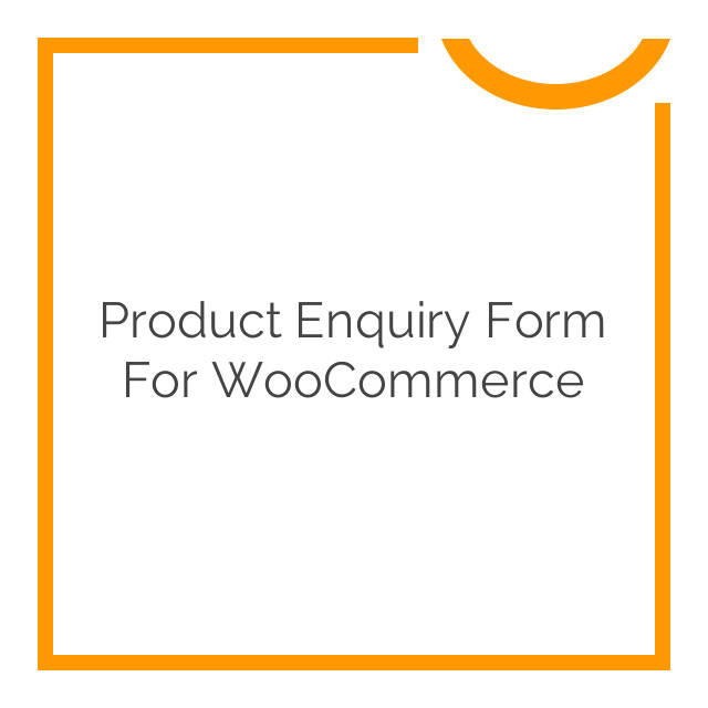 Product Enquiry Form for WooCommerce 1.2.5
