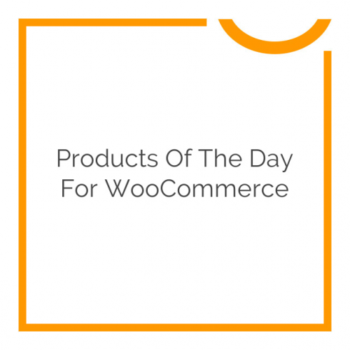 Products of the Day for WooCommerce 1.2.0
