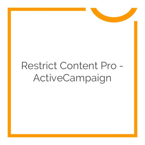 Restrict Content Pro – ActiveCampaign 1.0.1