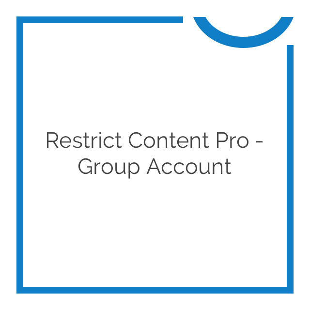 Restrict Content Pro – Group Account 1.3.1