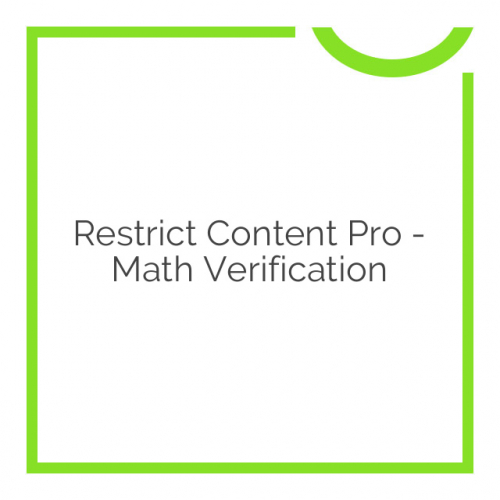 Restrict Content Pro – Math Verification 1.0.2