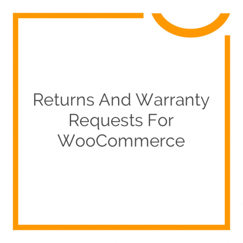 Returns and Warranty Requests for WooCommerce 1.8.9