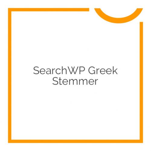 SearchWP Greek Stemmer 1.0.1