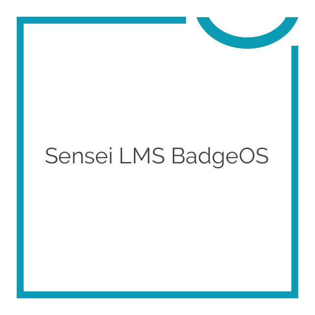 Sensei LMS BadgeOS 1.0.4