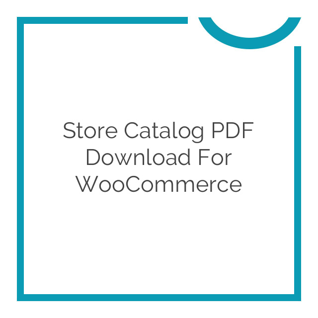 Store Catalog PDF Download for WooCommerce 1.0.12